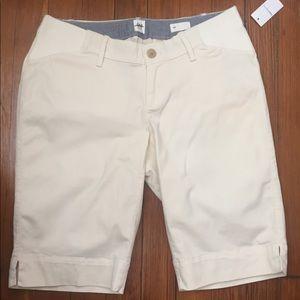 NWT Gap Maternity Bermuda Shorts. Stone
